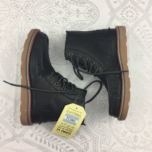 NWT Toms Searcher Leather Boot, Black, 5